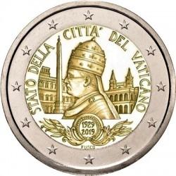 VATICANO 2 EUROS 2019 SC 90 ANIVERSARIO DE LA CIUDAD MONEDA CONMEMORATIVA @CARTERA OFICIAL - RARA@