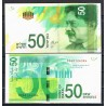 ISRAEL 50 NEW SHEQALIM 2014 SAUL CHERNIJOVSKI Pick 66 BILLETE SC @NUEVO DISEÑO@ 50 Shekels UNC BANKNOTE