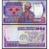 MADAGASCAR 1000 FRANCOS 1988 NATIVO CON FLAUTA Pick 72A Firma 2 BILLETE SC Africa UNC BANKNOTE 200 Ariary