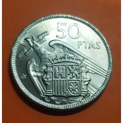 ESPAÑA 50 PESETAS 1957 * 71 FRANCO ESTADO ESPAÑOL KM.788 MONEDA DE NICKEL SC SIN CIRCULAR Spain