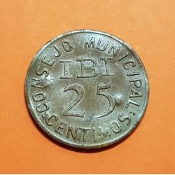 CAZALLA DE LA SIERRA 10 CENTIMOS 1937 ESCUDO LATON MBC++ @RARA@@