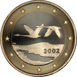 FINLANDIA 1 EURO 2002 PAJAROS EN VUELO MONEDA BIMETALICA SC Finnland 1 Euro coin