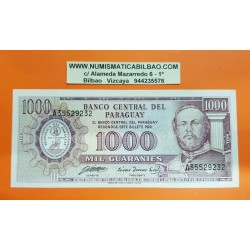PARAGUAY 1000 GUARANIES 1952 MARISCAL FRANCISCO SOLAND Pick 201B BILLETE EBC PVP NUEVO 33€