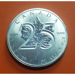 CANADA 5 DOLARES 2013 HOJA DE ARCE PLATA PURA SC SILVER DOLLAR