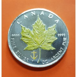 CANADA 5 DOLARES 2007 HOJA DE ARCE PLATA PURA SC SILVER DOLLAR