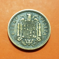 ESPAÑA 1 PESETA 1947 * 19 56 FRANCO MBC @RARA@ ESTADO ESPAÑOL