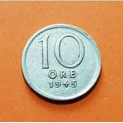 SUECIA 10 ORE 1945 G CORONA REY GUSTAV V KM.813 MONEDA DE PLATA MBC Sweden silver OCUPACION NAZI III REICH