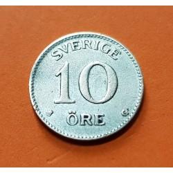 SUECIA 10 ORE 1931 G CORONA REY GUSTAV V KM.780 MONEDA DE PLATA MBC Sweden silver coin