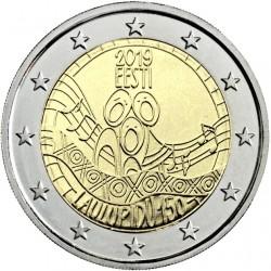 ESTONIA 2 EUROS 2019 FESTIVAL DE LA CANCION 150 ANIVERSARIO SC 1ª MONEDA CONMEMORATIVA Estonie Estland Eesti euro coin