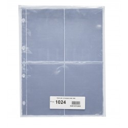 PARDO 10 hojas de 4 ESPACIOS PARA POSTALES modelo 1024 PLASTICO DE GRAN CALIDAD SIN PVC para ALBUM GRANDE 127501