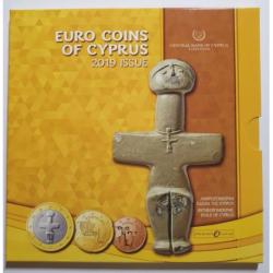 CHIPRE CARTERA OFICIAL EUROS 2019 UNC 1+2+5+10+20+50 Centimos + 1 EURO + 2 EUROS 2019 BU SET KMS Zypern Cyprus