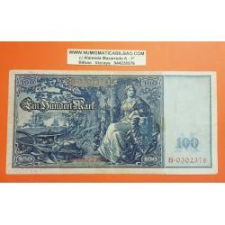 ALEMANIA 100 MARCOS 1908 DAMA CON ESCUDO y ESPADA Pick 35 BILLETE MBC @TAMAÑO XXL@ Germany 100 Marks