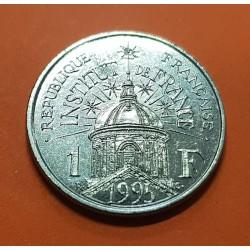 FRANCIA 1 FRANCO 1995 INSTITUTE OF FRANCE 200 ANIVERSARIO KM.1133 MONEDA DE NICKEL SC- France Franc
