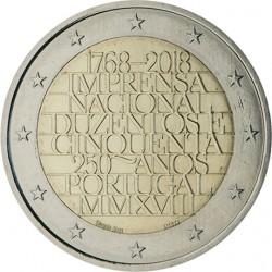PORTUGAL 2 EUROS 2018 IMPRENTA NACIONAL 250 ANIVERSARIO SC MONEDA CONMEMORATIVA 2 Euro coin