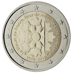 FRANCIA 2 EUROS 2018 FLOR DE ACIANO LE BLEUET SC MONEDA CONMEMORATIVA 2 Euro coin FRANCE