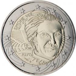 FRANCIA 2 EUROS 2018 SIMONE VEIL POLITICA FRANCESA SUPERVIVIENTE DEL HOLOCAUSTO NAZI SC MONEDA CONMEMORATIVA France 2 Euro coin