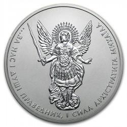UCRANIA 1 HRYVNYA 2016 ARCANGEL SAN MIGUEL MONEDA DE PLATA SC 1 ONZA OZ Ukraine silver Archangel Michael 1 Hryvna