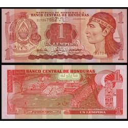 HONDURAS 1 LEMPIRA 2004 INDIO y RUINAS DE COPAN JUEGO DE PELOTA y ESCALINATA Pick 84D BILLETE SC UNC BANKNOTE