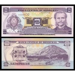 HONDURAS 2 LEMPIRAS 2004 MARCO AURELIO SOTO ISLA DEL TIGRE y PUERTO Pick 80AE BILLETE SC UNC BANKNOTE