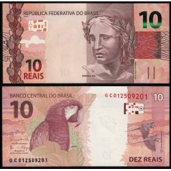 . BRASIL 2 REALES 2001 TORTUGA Pick 249 SC BRAZIL REAIS