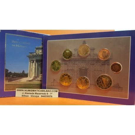 IRLANDA CARTERA OFICIAL EUROS 2003 SC 1+2+5+10+20+50 Centimos + 1 EURO + 2 EUROS 2003 UNC BU SET Eire Ireland
