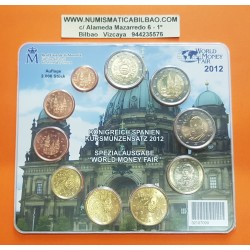 @ESCASA@ ESPAÑA CARTERA FNMT EUROS BERLIN WORLD MONEY FAIR 2012 BU SET KMS Tirada 2500 uds