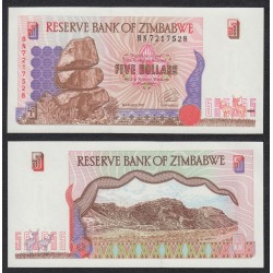 RHODESIA ZIMBABWE 2 DOLARES 1979 SC Pick 31D RHODESIE DOLLAR UNC