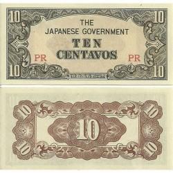 FILIPINAS 10 CENTAVOS 1942 OCUPACION DE JAPON 2ª GUERRA MUNDIAL Pick 104 BILLETE SC Japanese Occupation WWII