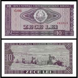 RUMANIA 10 LEI 1966 REPUBLICA SOCIALISTA DE ROMANIA Pick 94 BILLETE SC Romania UNC BANKNOTE Zece Lei