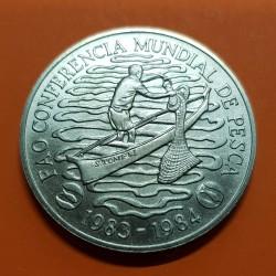 MOZAMBIQUE 50 METICAIS 1983 FAO BARCO PESCADOR NICKEL SC KM*106