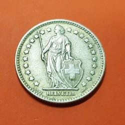 SUIZA 1 FRANCO 1959 B DAMA y VALOR KM.24 MONEDA DE PLATA MBC Switzerland 1 Franc silver coin