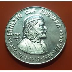 .CUBA 10 PESOS 1992 ERNESTO CHE GUEVARA PLATA PROOF Silver Set