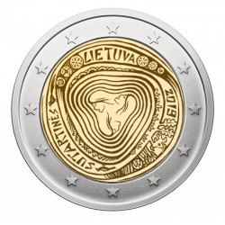 LITUANIA 2 EUROS 2019 Cultura LOS SUTARTINES 1ª MONEDA CONMEMORATIVA SC 2€ coin TIRADA CORTA