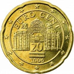 AUSTRIA 20 CENTIMOS 2006 MONEDA COIN Osterreich Euro Cts P