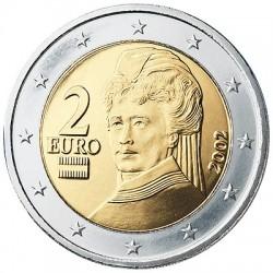 AUSTRIA 2 EUROS 2006 BERTHA VON SUTTNER MONEDA BIMETALICA SIN CIRCULAR Osterreich 2€ coin