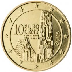 AUSTRIA 10 CENTIMOS 2013 CATEDRAL DE SAN ESTEBAN MONEDA DE LATON SC Osterreich Euro coin Cts