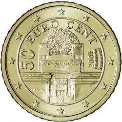 AUSTRIA 50 CENTIMOS 2006 EDIFICIO DE LA SECESION MONEDA DE LATON SC MONEDA Osterreich Euro coin Cts