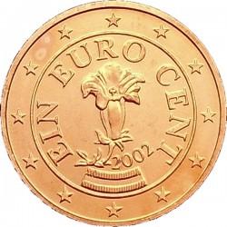 AUSTRIA 1 CENTIMO 2009 FLOR MONEDA DE COBRE SC Osterreich Euro coin Cts