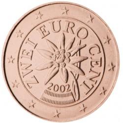 AUSTRIA 2 CENTIMOS 2013 FLOR MONEDA DE COBRE SC Osterreich Euro coin Cts DE CARTERA