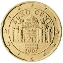 AUSTRIA 20 CENTIMOS 2013 PUERTA DE PALACIO MONEDA DE LATON SC Osterreich Euro Cts DE CARTERA