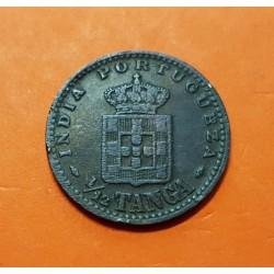 INDIA PORTUGUESA 1/12 TANGA 1903 MCMIII REY CARLOS I KM.16 MONEDA DE COBRE @ESCASA@ 1/12 de Tanga Portugal GOA