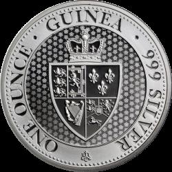 SANTA HELENA 1 ONZA 2019 THE EAST INDIA COMPANY SPADE GUINEA MONEDA DE PLATA SC OZ OUNCE silver coin