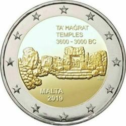 MALTA 2 EUROS 2019 TEMPLO TA'HAGRAT 3600 3000 A.C. 1ª MONEDA CONMEMORATIVA 2€ commemorative coin