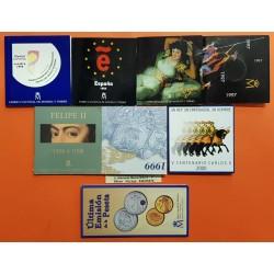 @OFERTA@ ESPAÑA CARTERA FNMT 2000 PESETAS 1994 + 1995 + 1996 + 1997 + 1998 + 1999 + 2000 + 2001 PLATA SC 8 ESTUCHES FNMT