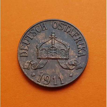 DEUTSCH OSTAFRIKA 1 HELLER 1907 J CORONA BRONCE SC TANZANIA