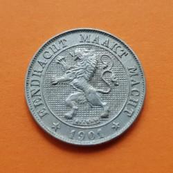 BELGICA 5 CENTIMOS 1894 DES BELGES NICKEL EBC+ BELGIUM CENTIMES