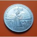 RUSIA 3 RUBLOS 1989 TERREMOTO EN ARMENIA CCCP KM.234 MONEDA DE NICKEL SC URSS Russia Roubles