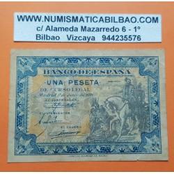 ESPAÑA 1 PESETA 1940 HERNAN CORTES A CABALLO Serie D 7136545 Pick 121 BILLETE MBC- Spain banknote