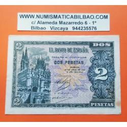 ESPAÑA 2 PESETAS 1938 CATEDRAL DE BURGOS 30 de ABRIL Serie B 9521571 Pick 109A BILLETE MBC @MANCHITAS@ Spain banknote