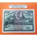 @RARO@ ESPAÑA 100 PESETAS 1907 LA GIRALDA Sin Serie 3495890 Pick 64A MBC+ Spain banknote